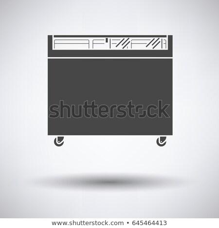 Supermarket komórkowych zamrażarka ikona przycisk Zdjęcia stock © angelp