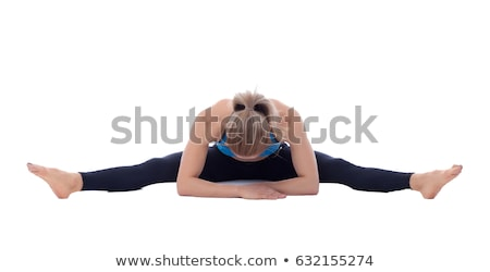 stretching of glutes femural biceps and adductors stock photo © blanaru
