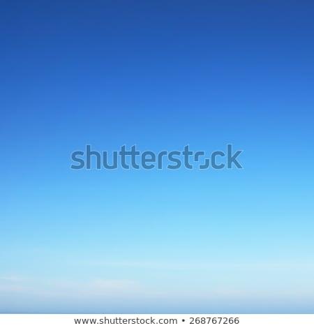 Meer Ufer blauer Himmel Sandstrand blau bewölkt Stock foto © neirfy