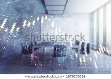 chalkboard on the office wall with analytics concept stock photo © tashatuvango
