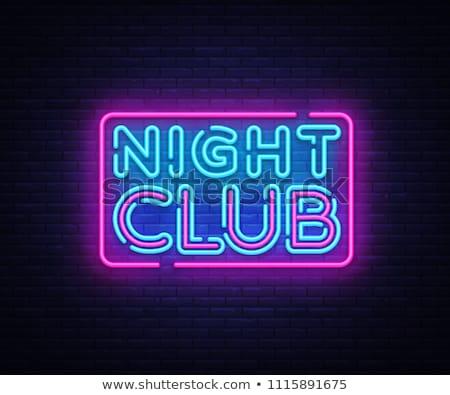 Iluminación signo club nocturno tecnología fondo Foto stock © ssuaphoto