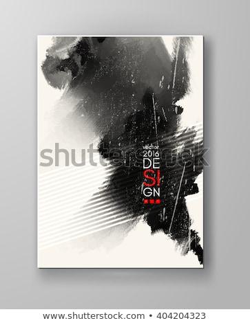 bod · poster · grunge · ontwerp · oude · Rood - stockfoto © tashatuvango