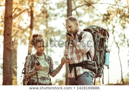 Man using walkie-talkie in the forest Stock photo © wavebreak_media
