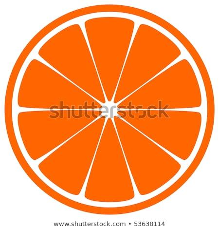 Dilim turuncu karanfil beyaz sağlıklı baharat Stok fotoğraf © Digifoodstock