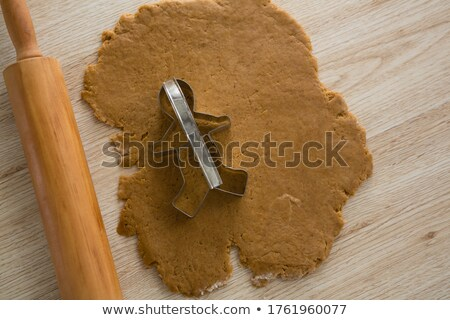 Cookie cutter placed over flattened dough Stock photo © wavebreak_media