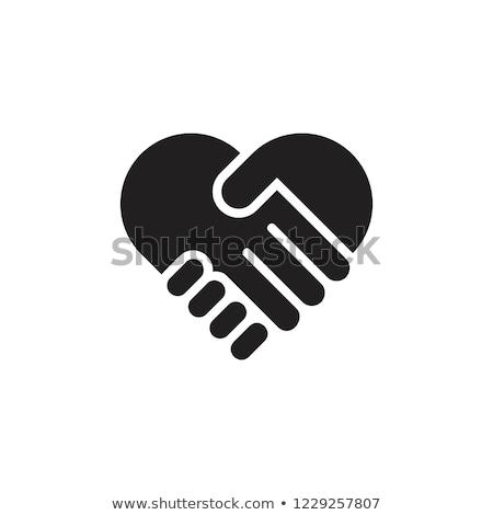 Dobroczynność serca ręce ikona dziecko projektu Zdjęcia stock © Olena