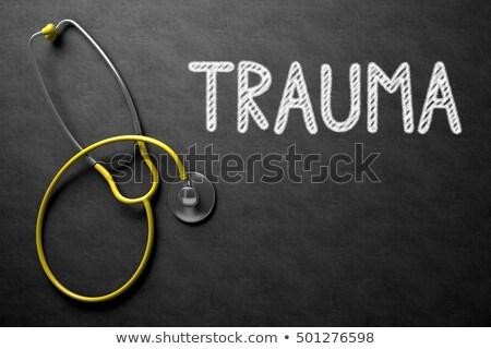 Tábla trauma 3d illusztráció orvosi fekete kézzel írott Stock fotó © tashatuvango