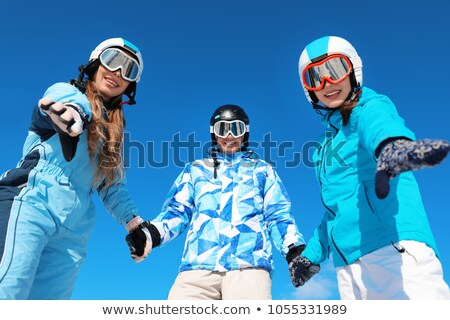 Snowboarders holding hands Stock photo © IS2