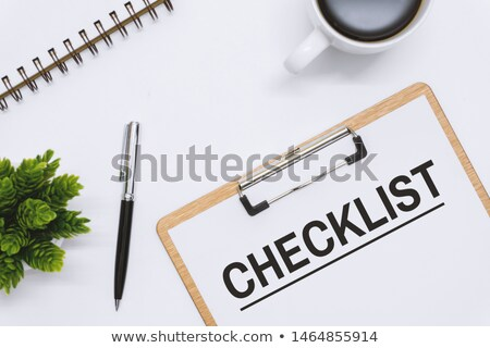 Survey questionnaire, overhead view of clipboard note pad Stock photo © stevanovicigor