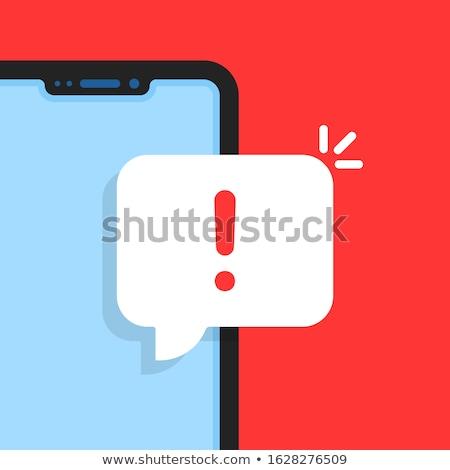 Okostelefon szöveg frissítés kirakat üzlet technológia Stock fotó © Zerbor