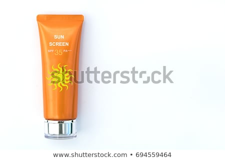 Stock photo: Suntan Cream Bottle Isolated on White Background