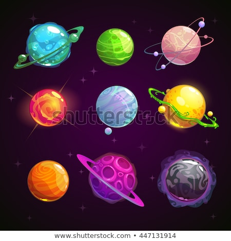 set alien and ufo space planet vector illustration stock photo © popaukropa