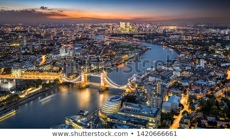 Night view of the thames river Stock photo © IS2