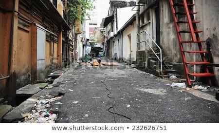 vuile · prullenbak · weg · illustratie · straat · achtergrond - stockfoto © bluering