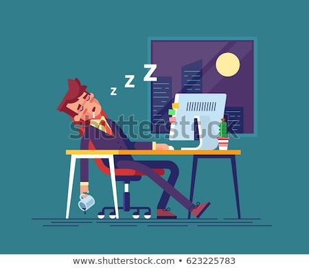 moe · werknemer · werken · kantoor · kantoormedewerker - stockfoto © lenm