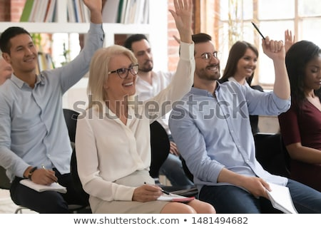 Alkalmazott kérdés üzlet munkás bizonytalanság alkalmazottak Stock fotó © Lightsource