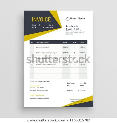 Stock fotó: Klassz · üzlet · számla · sablon · terv · pénz