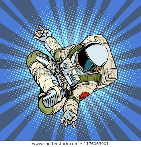 astronaut the yoga Lotus position. Top view Stock photo © studiostoks