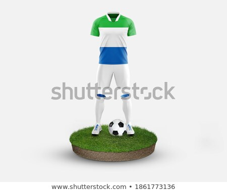 Soccer football ball with Sierra Leone flag stock photo © daboost