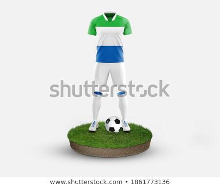 Soccer football ball with Sierra Leone flag Stock photo © daboost