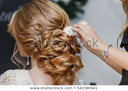 güzel · gelin · kız · düğün · makyaj - stok fotoğraf © dashapetrenko