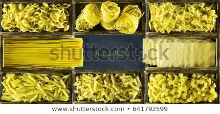 Különböző makaróni doboz fölött kilátás konténer Stock fotó © dash