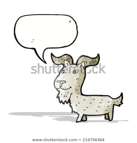 falante · desenho · animado · cabra · ilustração · feliz · sorridente - foto stock © cthoman