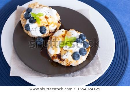 здорового органический риса торты свежие черника Сток-фото © DenisMArt