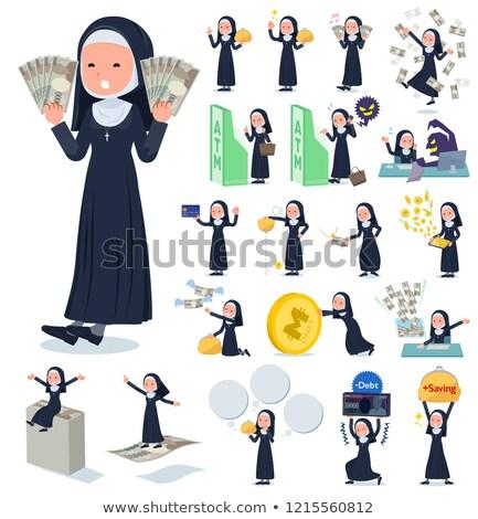 Zakonnica zestaw kobiet ceny sukces wektora Zdjęcia stock © toyotoyo