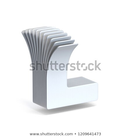 Curved paper sheets Letter L 3D Stock photo © djmilic