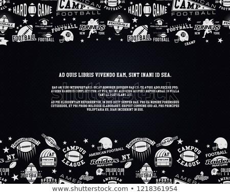 Stock fotó: Amerikai · futball · űr · szöveg · rögbi · szórólap