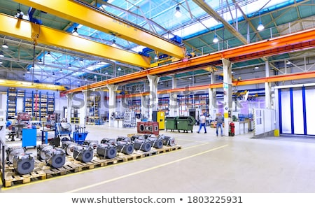 Manufacturing factory, modern high-tech production Stock photo © Traimak