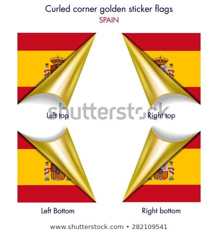 Spain flag on square paper Stock photo © colematt