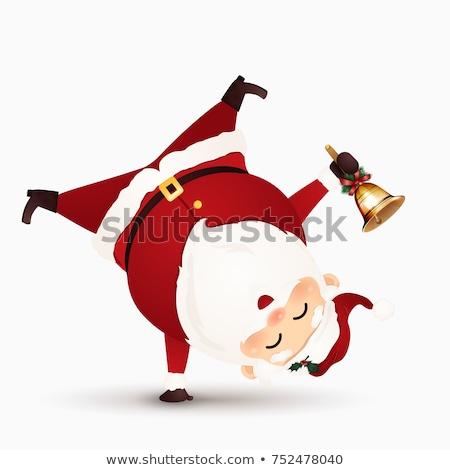 陽気な クリスマス サンタクロース 立って 腕 雪 ストックフォト © ori-artiste
