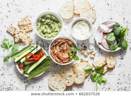 assorted vegetarian dip stock photo © m-studio