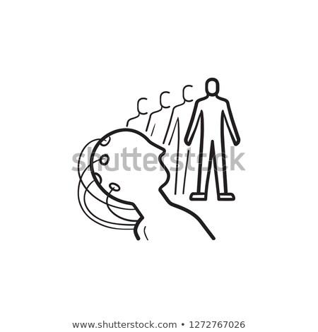 Mind controlled robot hand drawn outline doodle icon. Stock photo © RAStudio