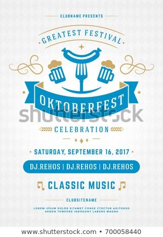 Oktoberfest invito vacanze vettore poster isolato Foto d'archivio © robuart