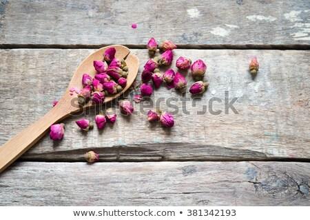 Flor té aumentó vidrio jar salud Foto stock © grafvision