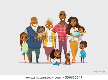 African American Male Vector. Grandfather, Father, Son, Grandson Vector. Isolated Illustration Stock photo © pikepicture