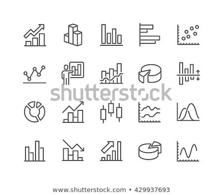 Cirkeldiagram vector lijn icon geïsoleerd witte Stockfoto © smoki