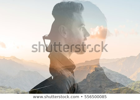 double exposure of male back Stock photo © zdenkam