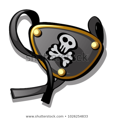 eye patch isolated on white background vector cartoon close up illustration stock photo © lady-luck