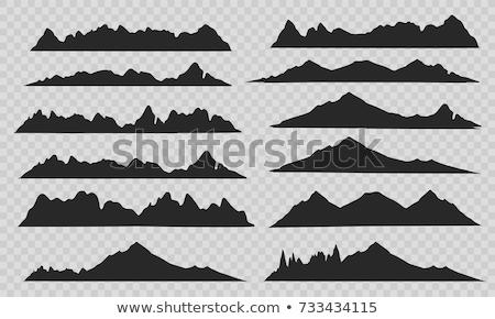 パノラマ · 山 · 雪 · 日没 · 太陽 - ストックフォト © kotenko
