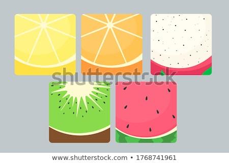 Draak vruchten kiwi heldere Rood restaurant Stockfoto © ConceptCafe