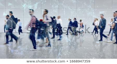 Masse réunion bannière tête foule Photo stock © RAStudio