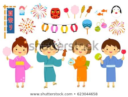 дети лет фестиваля Япония темам набор Сток-фото © ayelet_keshet