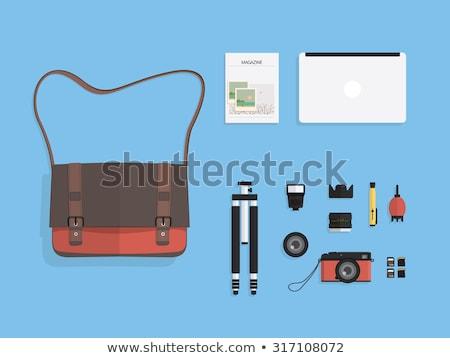 Vektör ayarlamak dizüstü bilgisayar çanta iş imzalamak Stok fotoğraf © olllikeballoon