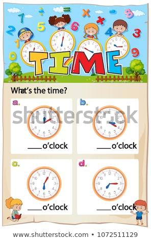 Mathématiques temps chapitre photos illustration travaux Photo stock © colematt