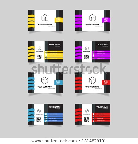 Set of four different vector business concept slide designs Stock photo © Giraffarte