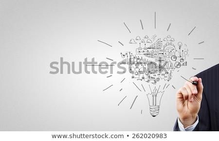 Foto stock: Estratégia · de · negócios · fluxograma · trabalho · em · equipe · comunicação · negócio · fluxograma